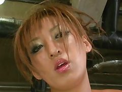 horny&oiled Japanese babe