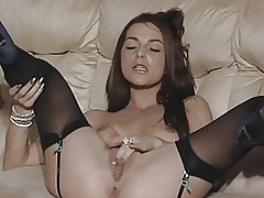 British slut Jessica plays with herself in various scenes