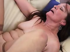 Granny slut addicted to young cock