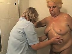 Nasty mature doxy gets her body rubbed part2
